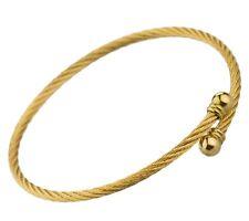 Stainless Steel Beads Bracelet Unisex Gold L102