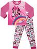 Disney Girls Baby Minnie Mouse Rainbow Pink Pyjamas Pjs PJ 0 to 4 Years w18