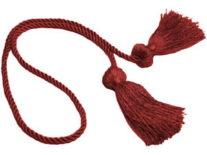 "Cherry Red 3 1/2"" Double-Tassel Chair Tie [Invidual]"