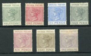 Grenada 1883 set SG30/36 MM cat £250 - see desc
