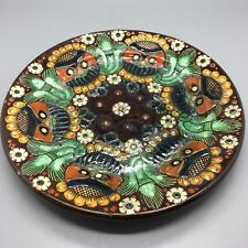 """SWISS THOUNE MAJOLICA SIGNED PLATE EXCELLENT CONDITION. 7 1/4"""""""