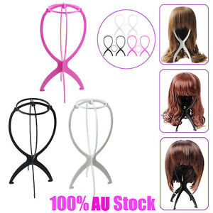 3X Wig Hair Stand Holder Tool Folding Plastic Stable Durable Hat Cap Display NEW
