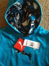 NWT Kids Youth Puma Pullover Sweater Hoodie Atomic Blue Size 6