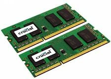 KIT 8gb Crucial (4gbx2) ddr3 1066 MT/s (pc3-8500) memoria SODIMM 204-pin per Mac