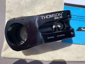 Black Thomson Elite X4 Stem 0 Deg. 60mm 31.8 Bar Diameter
