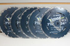 Set of 5 Bosch DCB724 7-1/4 In. 24 Tooth Edge Circular Saw Blade for Framing NEW