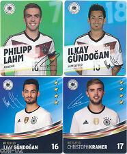 REWE -- WM 2014 + EM 2016 -- 4 Sammelkarten - Lahm, 2xGündogan, Kramer - Fußball