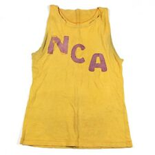 ORIGINAL WWII ERA 1940S NORTH CAROLINA ACADEMY ? NCA WOOL BASKETBALL JERSEY