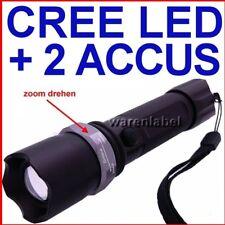 LED CREE TASCHENLAMPE 2 x  ACCU LI-ION 18650 3.7V EXTREM HELL
