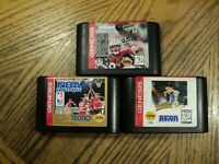 Lot of Sega Genesis Game  Quarterback 96  World Series 95 Tecmo NBA  Cartridges