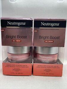 2X Neutrogena Bright Boost Gel Cream Brightening 1.7 Oz Each Fast Free Ship