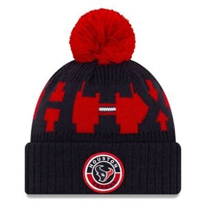 2020 Houston Texans New Era NFL Knit Hat On Field Sideline Beanie Stocking Cap