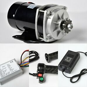 800W 36V gear reduction electric motor+Reverse Controller+Throttle 3s+Charger