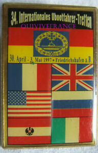 BG11360 - INSIGNE 34° CONGRES INTERNATIONAL SOUS-MARINIERS 1997 FRIEDRICHSHAFEN