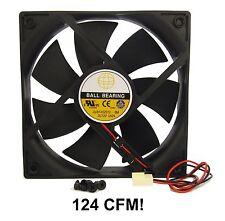 120mm 25mm New Case Fan 12V DC 124CFM Ball Brg 2 Pin PC Computer Cooling 350*