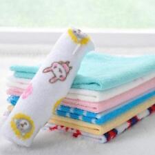 Baby Infant Soft Bath Towel Washcloth Bathing Feeding Wipe Cloth 8Pcs/Set - LD