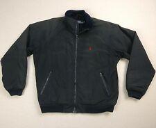 Ralph Lauren Fleece Lined Navy Blue Bomber Jacket Size Medium