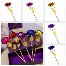UK Gold Plated Rose Flower Anniversary Girlfriend Romantic Valentine's Day gift
