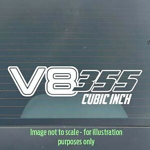 150mm 355ci V8 Holden / Ford / Chev / Chrysler car / toolbox / tackle box decal