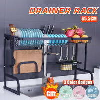 Stainless Over Sink Dish Rack Kitchen Cutlery Drying Drainer Food Chopper Gifts