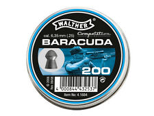 WALTHER BARACUDA cal. .25 6.35 mm 200 pcs. 2.01g Air rifle Pellets Airgun pellet