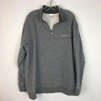 Columbia Men's Gray Fleece Pullover Half Zip Sweater Size 2XL XXL