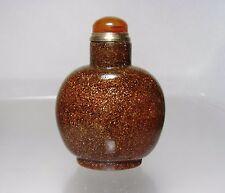 Chinese GoldStone Snuff Bottle