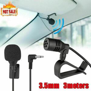Externes Mikrofon Microphone 3.5mm Klinke Stereo Für Autoradio Handy Laptop GPS