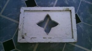 Antique Wooden Victorian House CORBEL Porch Star Art Late 1800's Hand Carved