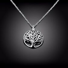 "Women's 925 Sterling Silver Tree of Life Pendant with 18"" Necklace /Send Gift UK"