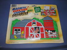 New Magnetic Barnyard Coupon & Bill Organizer For Home School or Office