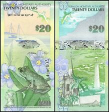 Bermuda 20 Dollars, 2009, P-60, UNC, Onion Prefix