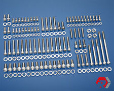FORD 351W STAINLESS BOLT KIT PRE-77 WINDSOR SMALL BLOCK FORD DRIV SIDE H20 INLET