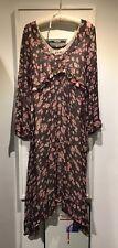 MARNI Italy, Beautiful Silk Chiffon Dress Floral Blossom Print Empire w. Slip 42