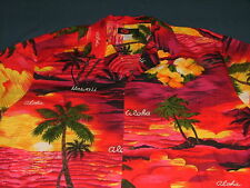 Men's Ali'i Fashions Hawaiian Short Sleeve Shirt XXL 100% Cotton Made in USA