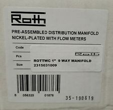 Roth 1 9 Way Outlet Distribution Radiant Heat Manifold Set With Flow Meters