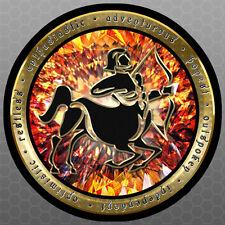 Zodiac - Sagittarius - Round Vinyl Sticker - Car Bumper Sticker 5x5 Horoscope