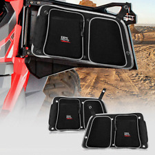 Utv Rear Side Door Bag W/ Knee Pad for Polaris Rzr 4 900 Xp4 1000 Turbo 4 Door