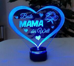 Beste Mama - Muttertag Geschenk für Mama mit Led-Beleuchtung - Geburtstag Herz