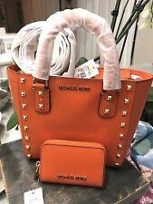 Michael Kors Sandrine Stud Mini Top Zip Tote/Crossbody with Zip Around Card Case