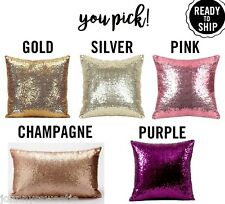 Sequin Pillow Cover Decorative Glam Home Decor Purple Pink Silver Gold or Lumbar