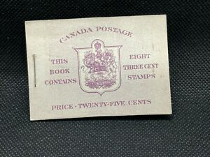 1942 Canada Stamp Book:  8, 3c Stamps:  SC252  MNH, Complete