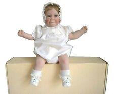 """Lee Middleton Devan Doll 050487-VDV Baby Infant Realistic Blonde 22"""" Signed 1987"""