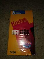 NEW SEALED Kodak T-120 High Grade Video Tape 6 Hours VHS