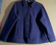 Isaac Mizrahi Live QVC 3X Coat Jacket Blue        GREAT QUILTED FABRIC BLOCKING!