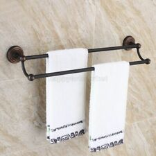Oil Rubbed Bronze Towel Rail Holder Bathroom Wall Mounted Double Towel Rails Bar