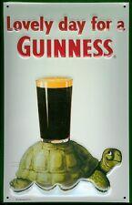 Blechschild Guinness Bier Schildkröte Turtle Bierglas nostalgisches Werbeschild