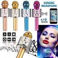 Q9 Handheld KTV Microphone Wireless Bluetooth Karaoke Home Mic Speaker Player
