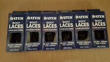 6 Pairs Bates Unisex Shoe Boot Laces 45in Black Brown