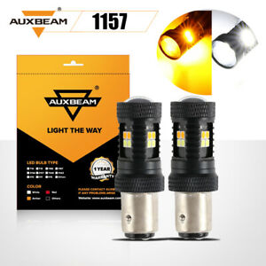 AUXBEAM 1157 1156 LED Turn Signal Parking Light Bulbs Dual Color Amber White